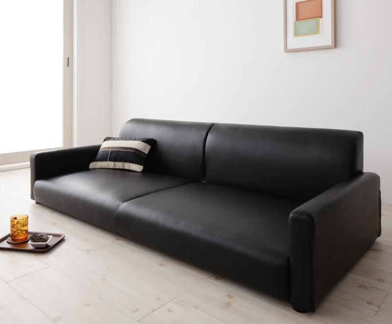 ソファー 3人掛け 2.5人掛け フロアソファ ローソファ ロータイプ ブラック 黒 ソファ アームチェア 座椅子 応接 布 革 合皮 三人掛け 3P 2.5 低い