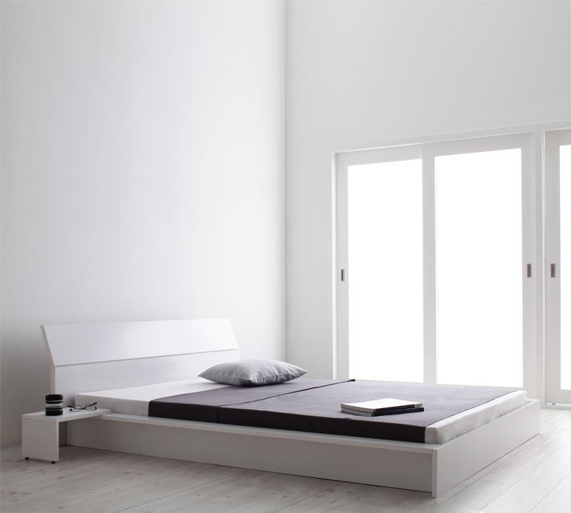ベット 安い セミダブル セミダブルベット セミダブルサイズ ( デュラテクノ マットレス付き ) ホワイト 白