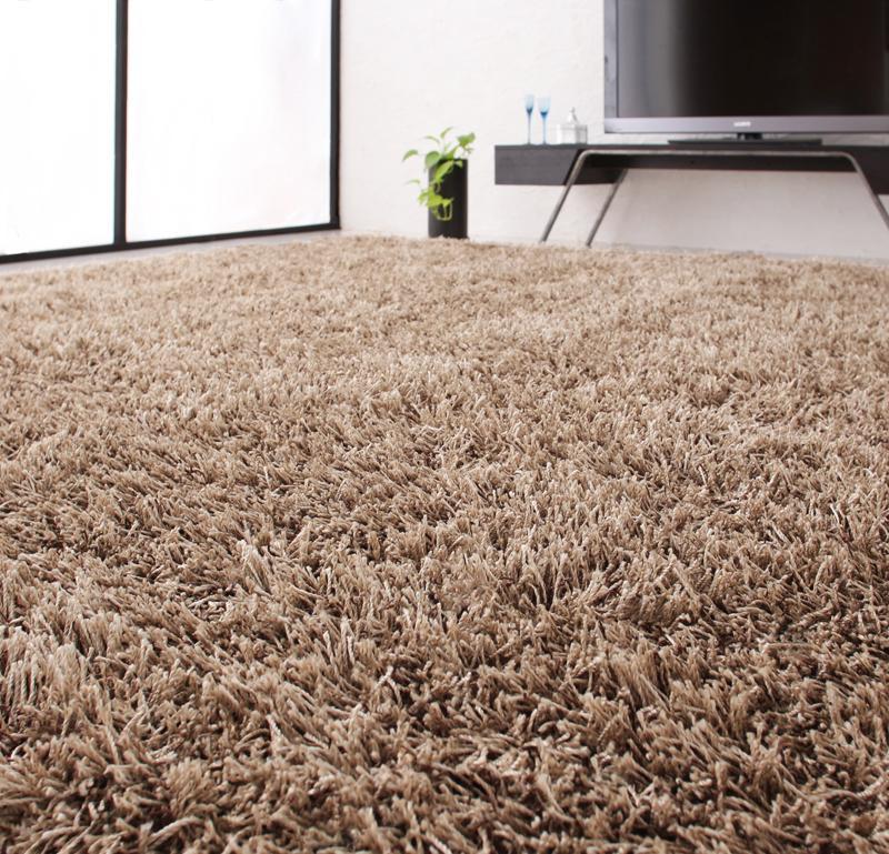 ラグ カーペット おしゃれ ラグマット 絨毯 北欧 安い ふわふわ 厚手 極厚 ふかふか シャギーラグ マット 200×250 3畳 ブラウン 茶色 防音 子供