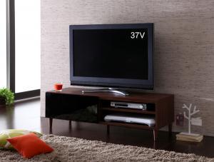 テレビ台 棚 DVD ゲーム 脚 脚付き シンプル 脚付き 脚 レトロ モダン 幅120 ワイドダーク ブラウン 茶色 ウォールナット