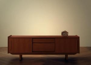 ほぼ 完成品 テレビ台 ワイド ウォールナット ブラウン 天然木 北欧 アンティーク/テレビ台 幅150 ブラウン 茶色