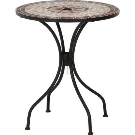 ガーデンテーブル テーブル カフェテーブル アウトドアテーブル BBQテーブル ガーデンファニチャー ガーデン ガーデン家具 バーベキュー キャンプ アウトドア 釣り モザイク