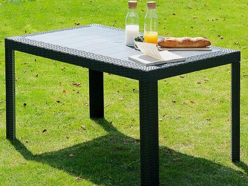 ガーデンテーブル テーブル カフェテーブル アウトドアテーブル BBQテーブル ガーデンファニチャー ガーデン ガーデン家具 バーベキュー キャンプ アウトドア 釣り ブラック 黒