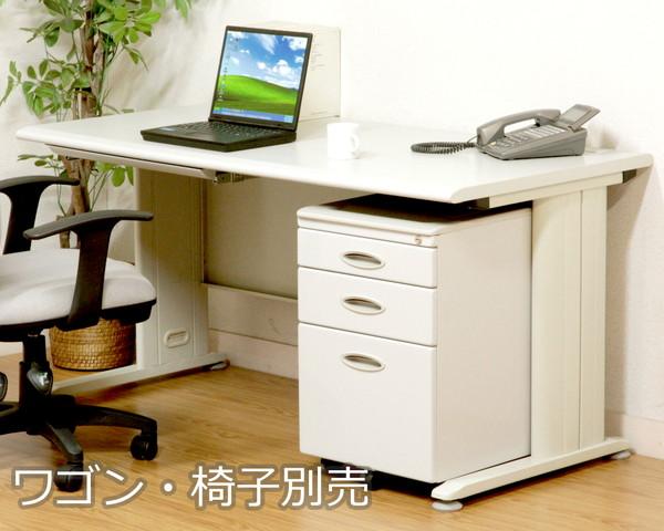 オフィスデスク スチール 事務机 パソコンデスク 机 デスク PCデスク おしゃれ 安い 北欧 シンプル オフィス 白 ホワイト ワイド ゲーミング パソコンラック ワークデスク 約 幅140
