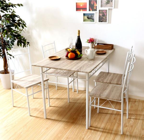 ダイニングセット ダイニングテーブルセット おしゃれ カフェ モダン 安い 北欧 ダイニングチェア 椅子 アンティーク 木製 シンプル ホワイト 幅110 奥行70 高さ75