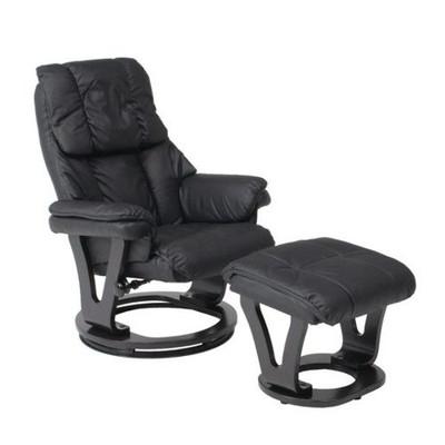 足置き リクライニングチェアー パーソナルチェアー ブラック 黒 【 椅子 チェアー イス いす フットレスト ハイバック ヘッドレスト ソファー 1人掛け 1P 送料無料 ポイント 】
