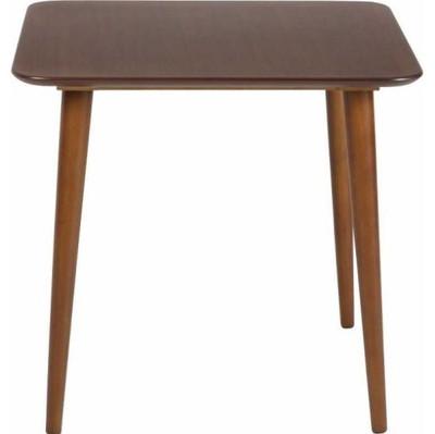 ダイニングテーブル おしゃれ 安い 北欧 食卓 テーブル 単品 正方形 2人用 二人用 コンパクト 小さめ 一人暮らし 75×75 モダン ウォールナット 机 会議用テーブル カフェテーブル ミーティングテーブル