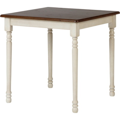 ダイニングテーブル ホワイト 白 ブラウン 茶色 【 食卓 北欧 リビング 送料無料 ポイント 】