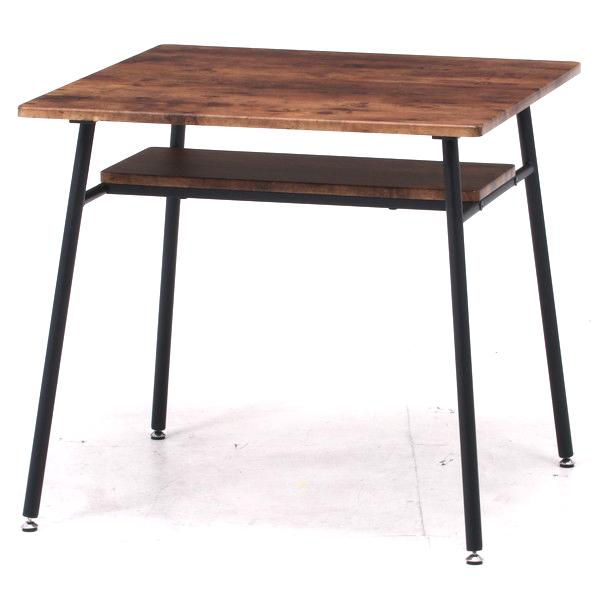 ダイニングテーブル おしゃれ 安い 北欧 食卓 テーブル 単品 モダン 机 会議用テーブル ブラウン×ブラック 幅75 奥行75 高さ70