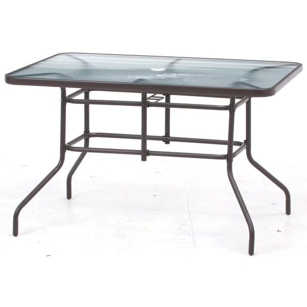 ガーデンテーブル おしゃれ 格安 屋外 カフェ テラス ガーデン 庭 ベランダ バルコニー アジアン アウトドア ブラウン 幅120 奥行86 高さ73