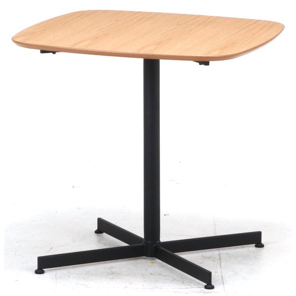ソファーテーブル サイドテーブル パソコンデスク コーヒーテーブル ティーテーブル ベッドサイドテーブル ナイトテーブル 軽量 コンパクト 小型 小さい 小さめ 小 ミニ 一人暮らし ワンルーム ナチュラル×ブラック 幅75 奥行75 高さ72