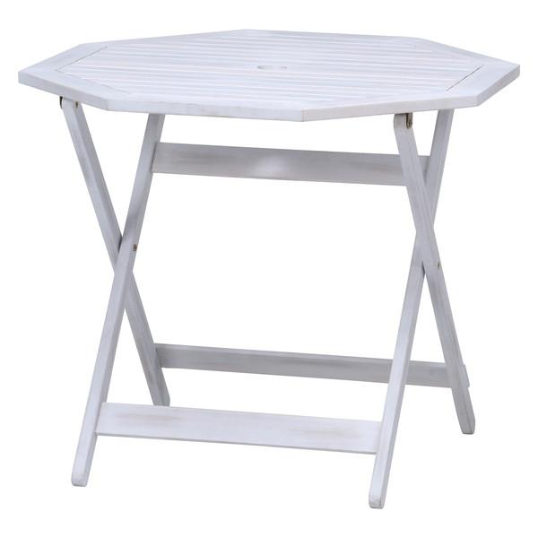 ガーデンテーブル おしゃれ 格安 屋外 カフェ テラス ガーデン 庭 ベランダ バルコニー アジアン アウトドア ホワイト 幅90 奥行90 高さ72