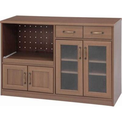 ブラウン 茶色 食器棚 低い ミニ ミニ食器棚 カップボード キッチンボード キッチンラック 食器収納 キッチン収納 ラック 収納 キッチンストッカー ストッカー