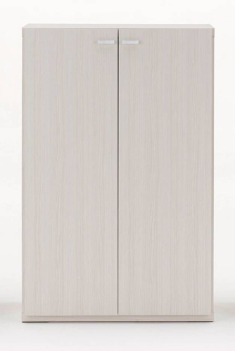 完成品 国産 日本製 本棚 書棚 扉付き 【 幅75 ×高さ113 .8 cm】 ホワイト 白【 チェスト キャビネット 引き出し リビング タンス 木製 シェルフ ラック 棚 衣類収納 モダン ボード コンソール 送料無料 ポイント】 食器棚 ミニ