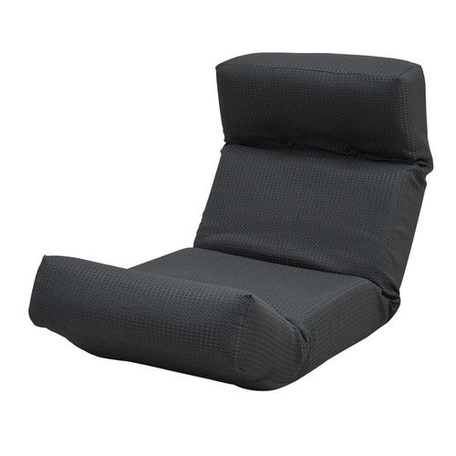 座椅子 リクライニングチェア 低い 椅子 ソファー ソファ 1人掛け 一人掛け 1人用 一人用 一人暮らし コンパクト 小さめ ミニ 軽量 おしゃれ 北欧 安い カフェ リビング ローソファ ローソファー こたつ リクライニング 布 ファブリック ふかふか ブラック 黒