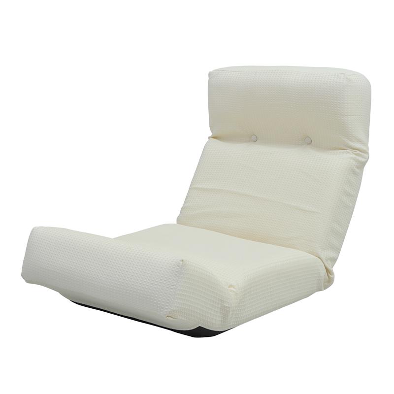 座椅子 リクライニングチェア 低い 椅子 ソファー ソファ 1人掛け 一人掛け 1人用 一人用 一人暮らし コンパクト 小さめ ミニ 軽量 おしゃれ 北欧 安い カフェ リビング ローソファ ローソファー こたつ リクライニング 布 ファブリック ふかふか アイボリー