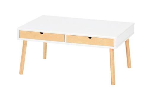 センターテーブル ローテーブル 引き出し ホワイト 白 【 木製テーブル 木製 リビングテーブル ダイニングテーブル ちゃぶ台 ローテーブル サイドテーブル センターテーブル コーヒーテーブル カウンターテーブル 座卓 送料無料 送料込】