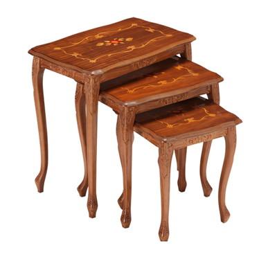 サイドテーブル 猫脚 ネストテーブル イタリア ヨーロピアン アンティーク風
