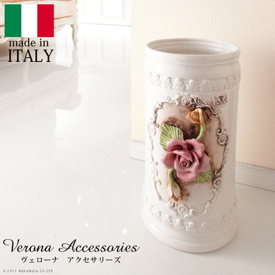 傘立て 陶製 かさ立て イタリア ヨーロピアン アンティーク風