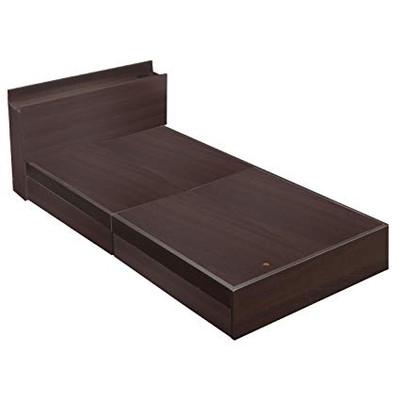 ベット 安い セミダブル セミダブルベット セミダブルサイズ フレームのみ 収納付き 木製 宮付き