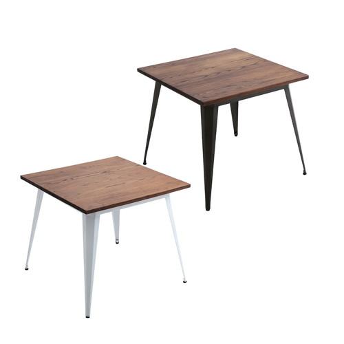 一人暮らし 2人用 二人用 ビンテージ 西海岸 アメリカン ブルックリン ダイニングテーブル 80cm幅 木製 食卓テーブル ダイニング テーブル カフェテーブル 食卓 リビングテーブル ソファテーブル リビング 机 台所 家具 インテリア 北欧 モダン シンプル おしゃれ 食事