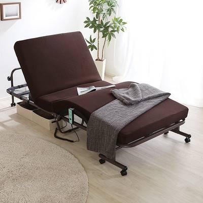 折りたたみベッド 折り畳みベッド 折畳ベッド キャスター キャスター付き ベッド リクライニングベッド リクライニング 介護 電動ベッド 介護ベッド シングル