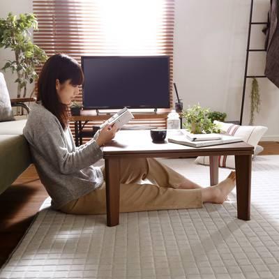 一人暮らし ウォールナット おしゃれ リバーシブル こたつ フラットヒーター 68幅 正方形 単品 センターテーブル ローテーブル コーヒーテーブル デスク 机 文机