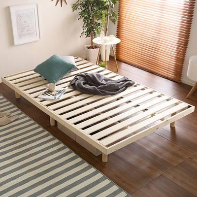 木製 高さ調整 脚付き すのこマット スノコベッド 北欧 おしゃれ ローベッド ロータイプ ロー フロアベッド セミダブル ベッド セミダブルベッド セミダブル