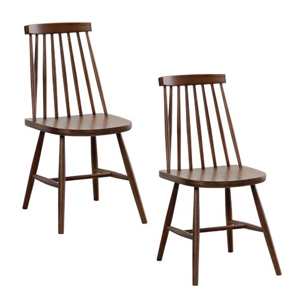 北欧 セット おしゃれ 椅子 ハイバック 安い ウォルナット 木製 ダイニングチェア 座面高め シンプル ウォールナット アンティーク 二脚 2脚