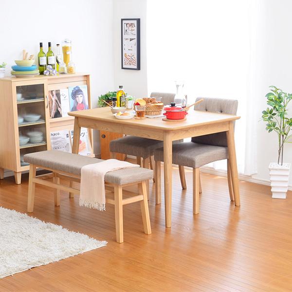 ダイニングテーブルセット ダイニングセット おしゃれ 安い 北欧 食卓 4人用 四人用 3人 150×80 伸長式 伸縮式 折りたたみ 椅子 2脚 ベンチ 1脚 ナチュラル カントリー