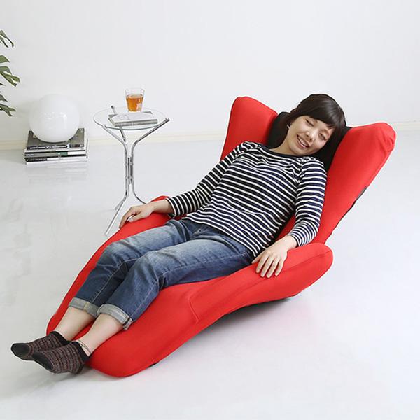 座椅子 座いす 座イス チェア チェアー 椅子 フロアチェア フロアチェアー リクライニングチェア リクライニング座椅子 リラックスチェア リクライニング 肘掛け 1人掛け 1P コンパクト デザイナーズ メッシュ 日本製 国産