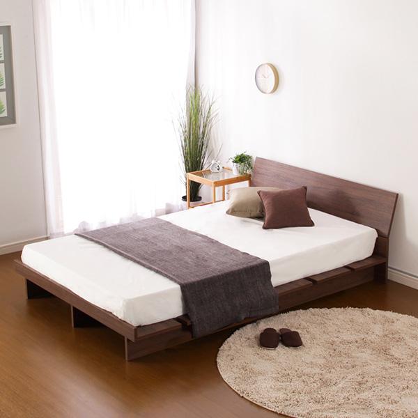 ベッド ベット 安い シングル シングルベッド シングルベット シングルサイズ 木製 ローベッド 低いベッド 低い (マルチラススーパー マットレス付き )