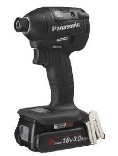 ★ポイント5倍★ 4/9 20:00~4/16 1:59 エントリーで!【パナソニック】 充電インパクトドライバー EZ75A7PN2G-B(黒) 18V 3.0Ah電池2個・充電器・ケース付 【Panasonic】