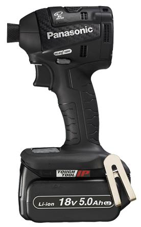 【パナソニック】 充電インパクトドライバー EZ75A7LJ2G-B(黒) 18V 5.0Ah電池2個・充電器・ケース付 【Panasonic】