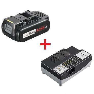 ★ポイント5倍★ 4/9 20:00~4/16 1:59 エントリーで!【パナソニック】 14.4V 電池パック・充電器セット品(EZ9L45+EZ0L81) EZ9L45ST 【Panasonic】
