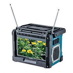 【マキタ】 18V/14.4V/10.8V 充電式ラジオ付テレビ TV100 本体のみ <バッテリ・充電器別売>[Bluetooth対応] 【makita】