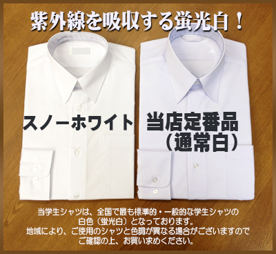 ハイグレードスクール shirt long-sleeved form stable non iron Nisshin spinning material (men's / スクールシャツ / white / t-shirt / shirt / student shirt / white / shape stability / school / store)