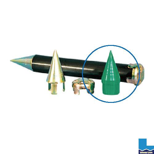 単管打込キャップ先端ミサイル(樹脂製)48.6φ 120個/1組〈単管 打ち込み 地中 アラオ〉02P03Dec16