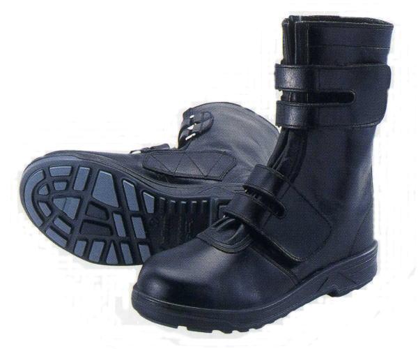 シモン 革製安全靴 8538 長マジック 帯電防止 JIS規格