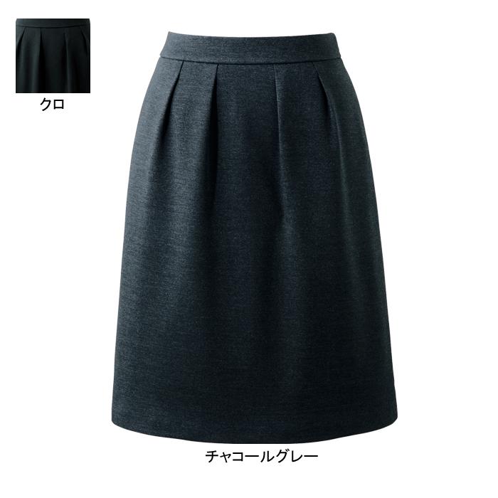 事務服・制服・オフィスウェア ピエ HCS3621 キテミテ体感タックスカート(54cm丈) 21号~29号