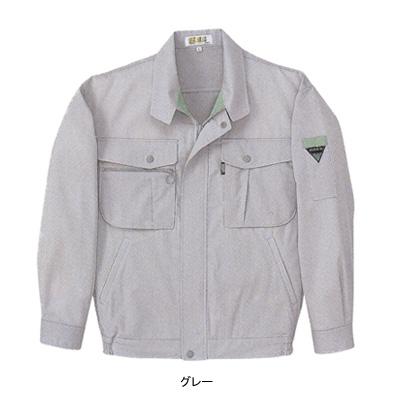 ジーベック 1914 長袖ブルゾン 二層糸ストレッチ 綿60%・ポリエステル40% 伸縮素材