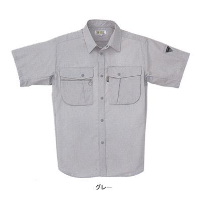 ジーベック 1912 半袖シャツ 二層糸ストレッチ 綿60%・ポリエステル40% 伸縮素材