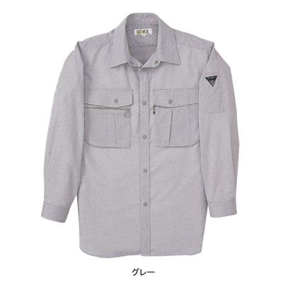 ジーベック 1913 長袖シャツ 二層糸ストレッチ 綿60%・ポリエステル40% 伸縮素材