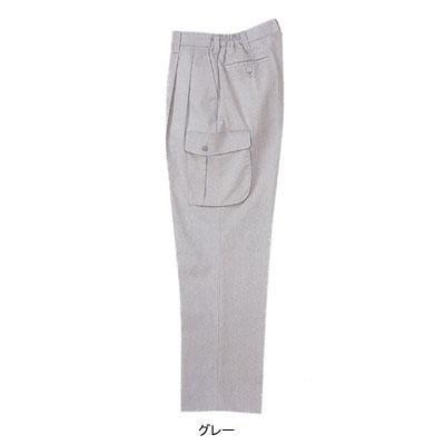 ジーベック 1916 ツータックラットズボン 二層糸ストレッチ 綿60%・ポリエステル40% 伸縮素材