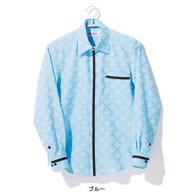 作業着 作業服 マルチフォームアミューズメント D8860 長袖シャツ XL・ブルー11[作業服から事務服まで総アイテム数10万点以上!][綺麗で丁寧な刺しゅう職人の店]