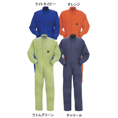 DON 414 ツナギ服 バーバリー(中国製) ポリエステル65%・コットン35% 膝ストレッチ(膝のみ内側ストレッチ素材) 帯電防止