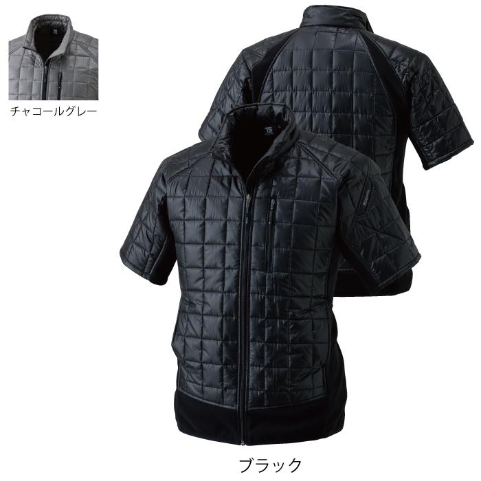 藤和 TS DESIGN 42256 マイクロリップショートスリーブジャケット マイクロリップ素材:ポリエステル100% マイクロフリース素材:ポリエステル100% 超軽量中綿素材:ポリエステル100% ストレッチ 軽量 保温性