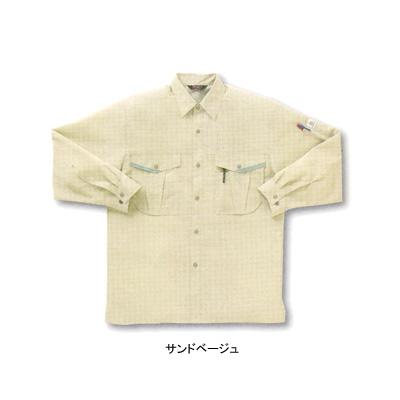 サンエス WA10019(AD10019) 長袖シャツ ポーラ(ポリエステル55%・綿45%) ストレッチ 帯電防止素材