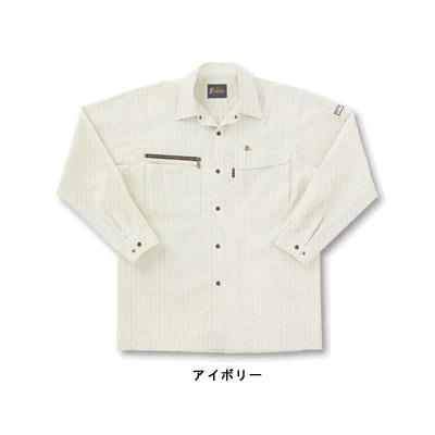 サンエス WA10319(BC10319) 長袖シャツ サマーツイル(ポリエステル65%・綿35%) ストレッチ 帯電防止素材