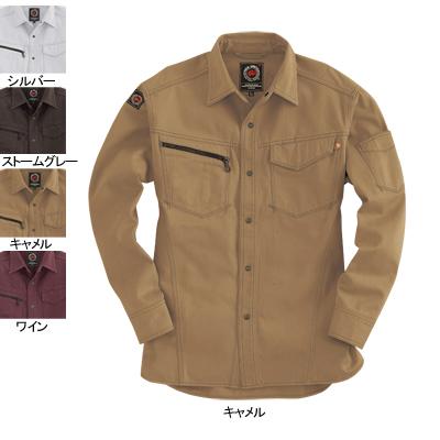 バートル BURTLE 5205 長袖シャツ M キャメル24 作業着 作業服 シャツ:作業服・空調服・防寒着キンショウ
